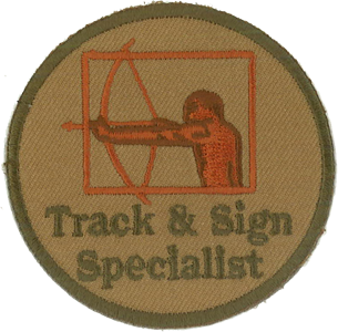 Track and Sign Specialist patch I earned twice